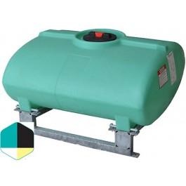 250 Gallon Yellow Horizontal Sump Bottom Leg Tank w/ Frame