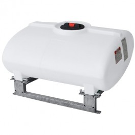 250 Gallon White Horizontal Sump Bottom Leg Tank w/ Frame
