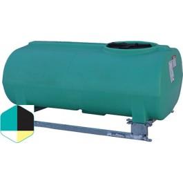 300 Gallon Yellow Horizontal Sump Bottom Leg Tank w/ Frame