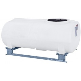 300 Gallon White Horizontal Sump Bottom Leg Tank w/ Frame