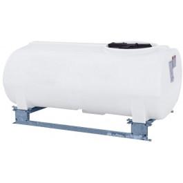 300 Gallon White Horizontal Sump Bottom Leg Tank w/ Frame