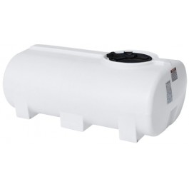 300 Gallon White Horizontal Sump Bottom Leg Tank