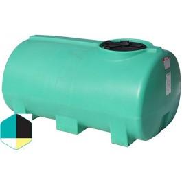 400 Gallon Yellow Horizontal Sump Bottom Leg Tank