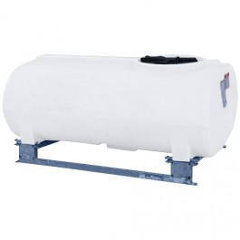 400 Gallon White Horizontal Sump Bottom Leg Tank w/ Frame