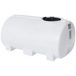 400 Gallon White Horizontal Sump Bottom Leg Tank
