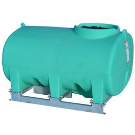 500 Gallon Green Horizontal Sump Bottom Leg Tank w/ Frame