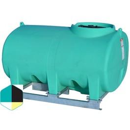 500 Gallon Yellow Horizontal Sump Bottom Leg Tank w/ Frame