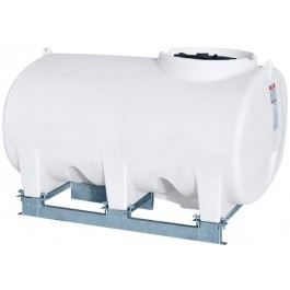 500 Gallon White Horizontal Sump Bottom Leg Tank w/ Frame