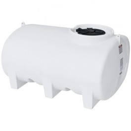 500 Gallon White Horizontal Sump Bottom Leg Tank