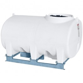 800 Gallon White Horizontal Sump Bottom Leg Tank w/ Frame
