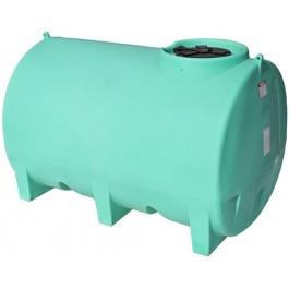 1000 Gallon Green Horizontal Sump Bottom Leg Tank