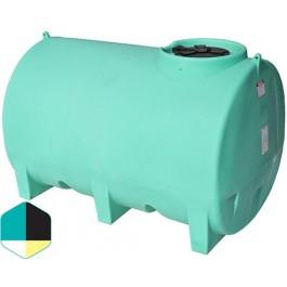 1000 Gallon Yellow Horizontal Sump Bottom Leg Tank