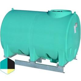 1000 Gallon Yellow Horizontal Sump Bottom Leg Tank w/ Frame