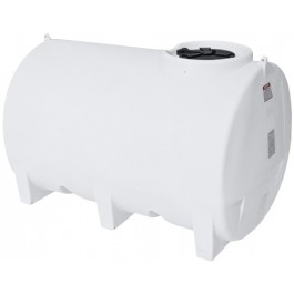 1000 Gallon White Horizontal Sump Bottom Leg Tank