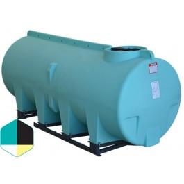 1010 Gallon Yellow Horizontal Sump Bottom Leg Tank w/ Frame