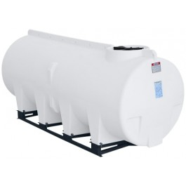 1010 Gallon White Horizontal Sump Bottom Leg Tank w/ Frame