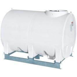 1200 Gallon White Horizontal Sump Bottom Leg Tank w/ Frame