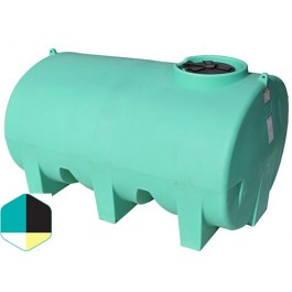 1400 Gallon Yellow Horizontal Sump Bottom Leg Tank