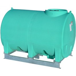 1400 Gallon Green Horizontal Sump Bottom Leg Tank w/ Frame
