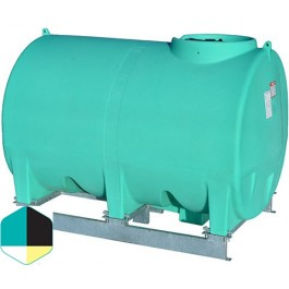 1400 Gallon Black Horizontal Sump Bottom Leg Tank w/ Frame
