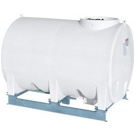 1400 Gallon White Horizontal Sump Bottom Leg Tank w/ Frame