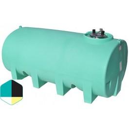 1600 Gallon Yellow Horizontal Sump Bottom Leg Tank