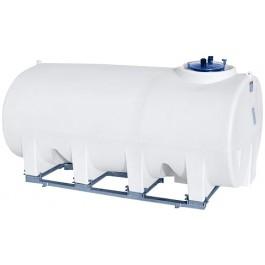 1600 Gallon White Horizontal Sump Bottom Leg Tank w/ Frame