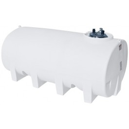 1600 Gallon White Horizontal Sump Bottom Leg Tank