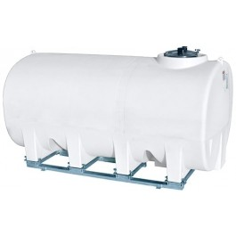 1900 Gallon White Horizontal Sump Bottom Leg Tank w/ Frame