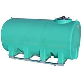 2200 Gallon Green Horizontal Sump Bottom Leg Tank w/ Frame