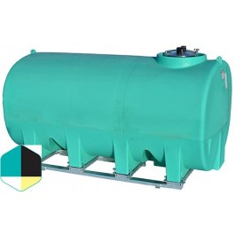 2200 Gallon Yellow Horizontal Sump Bottom Leg Tank w/ Frame
