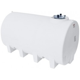 2200 Gallon White Horizontal Sump Bottom Leg Tank