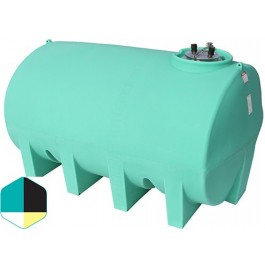 2500 Gallon Yellow Horizontal Sump Bottom Leg Tank