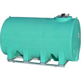 2500 Gallon Green Horizontal Sump Bottom Leg Tank w/ Frame