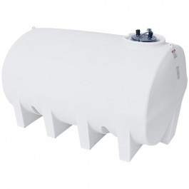 2500 Gallon White Horizontal Sump Bottom Leg Tank