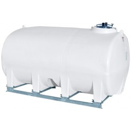 2800 Gallon White Horizontal Sump Bottom Leg Tank w/ Frame