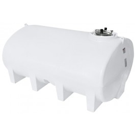 2800 Gallon White Horizontal Sump Bottom Leg Tank