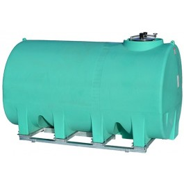 3000 Gallon Green Horizontal Sump Bottom Leg Tank w/ Frame