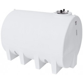 3000 Gallon White Horizontal Sump Bottom Leg Tank