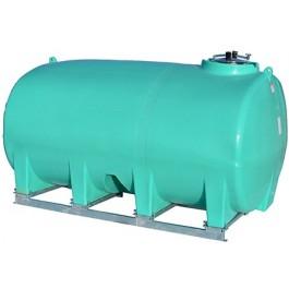 3200 Gallon Green Horizontal Sump Bottom Leg Tank w/ Frame