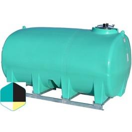 3200 Gallon Yellow Horizontal Sump Bottom Leg Tank w/ Frame