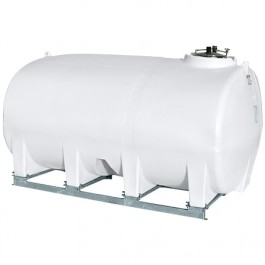 3200 Gallon White Horizontal Sump Bottom Leg Tank w/ Frame