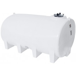 3200 Gallon White Horizontal Sump Bottom Leg Tank