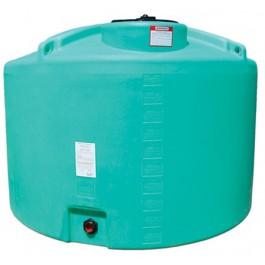 1000 Gallon Green Vertical Storage Tank