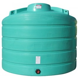 2520 Gallon Green Vertical Storage Tank