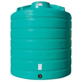 4000 Gallon Green Vertical Storage Tank
