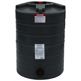 100 Gallon Black Vertical Water Storage Tank