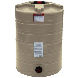 100 Gallon Beige Vertical Water Storage Tank