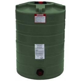100 Gallon Mist Green Vertical Water Storage Tank