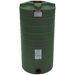 150 Gallon Mist Green Vertical Water Storage Tank